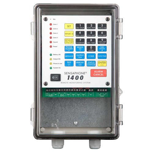 Sensaphone 1400 Series Remote Monitoring System with Clear Door (FGD-1400-CD) (Sensaphone Water)