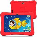 """Dragon Touch Y88X Pad - Tablet Android 7"""" para niños (Quad Core, pantalla de alta definición, juegos preinstalados Zoodles) - Nuevo modelo 2015 con funda de silicona rojo"""