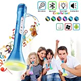 Shayson Wireless Karaoke Microphone, Kids Adults Microphone with Bluetooth Speaker, Karaoke Mic Portable Karaoke Player Machine for Home Party Music Singing Playing for iPhone/Android/iPad/PC (Blue)