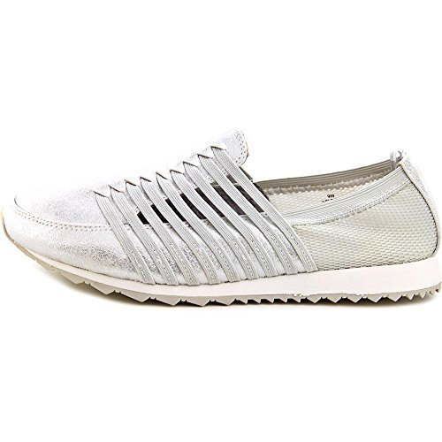 Easy Spirit Womens lehni Fabric Low Top Slip On Walking Shoes, Silver, Size 6.5