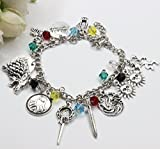 HedFord Games of Thrones Charm Bracelet Got Jewelry Merchandise With Stunning Style in Silver