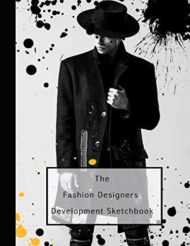 The fashion designers development sketchbook: Fashion design journal for the fashion designer - Male fashion Icon in ripped jeans]()