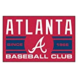 FANMATS 18460 Atlanta Braves Baseball Club Starter Rug