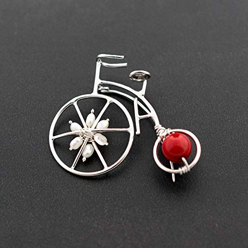 Vintage bicycle brooch, Christmas gift, bicycle jewelry, sterling silver brooch, bicycle broach, gift for women