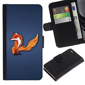 All Phone Most Case / Oferta Especial Cáscara Funda de cuero Monedero Cubierta de proteccion Caso / Wallet Case for Apple Iphone 4 / 4S // The Fox