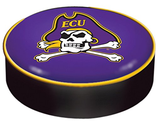 East Carolina Pirates HBS Purple Vinyl Slip Over Bar Stool Seat Cushion Cover ()