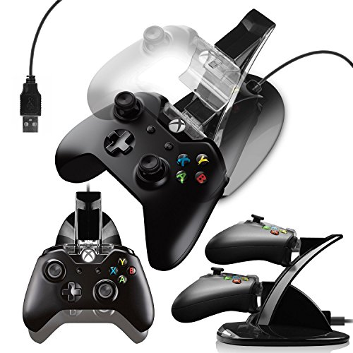 Xbox Control Pad (G-HUB® - X-BOX ONE TWIN CONTROLLER DOCK (Holds and charges upto 2 Game Pad Controllers during charge and can be used during Play) Designed by G-HUB® exclusively for Microsoft X-BOX ONE Control Pads)