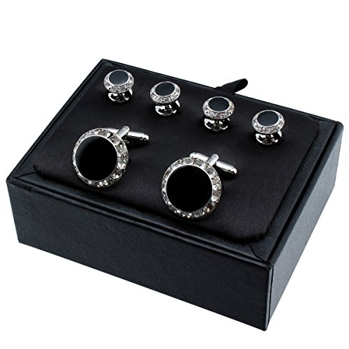Crystal cufflinks and studs