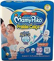 Fralda-Calça MamyPoko Tamanho XG, Pacote com 15 unidades