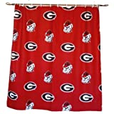 Georgia Bulldogs Printed Shower Curtain Cover - 70'' X 72''