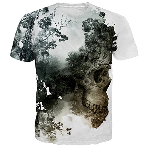 UNIFACO Unisex Forest Graphic T Shirt(M,Forest) (3d Green T-shirt)