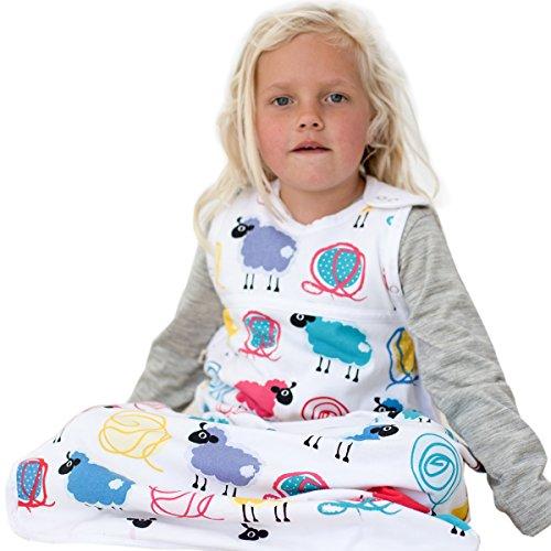 Merino Kids Saco de Dormir para Niños de 2-4 Años