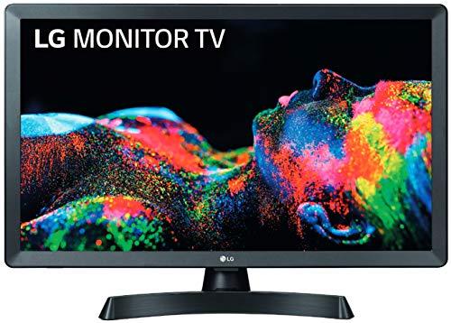 LG 24TL510S-PZ – Monitor Smart TV de 61cm (24″) con pantalla LED HD (1366×768, 16:9, DVB-T2/C/S2, WiFi, Miracast, 10 W, 2xHDMI 1.4, 1xUSB 2.0, Óptica) Color Negro