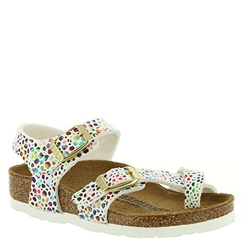 Birkenstock Kids Taormina Sandal Mosaic White Birko Flor Size 31 N EU / 13-13.5 N US Little -