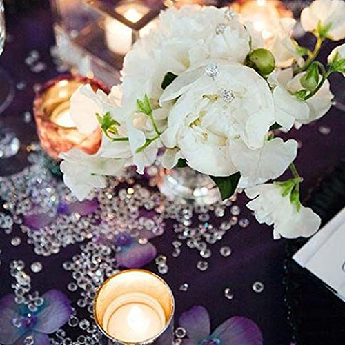 1000Pcs 4.5mm Shiny Clear Acrylic Rhinestones Wedding Party Festive Decor - Purple Ameesi by Ameesi (Image #4)
