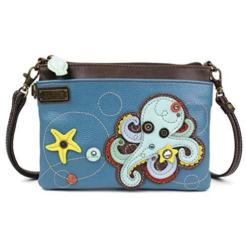 Chala Mini Crossbody/Purse with Convertible Strap Stylish, Compact, Versatile - Octopus Blue
