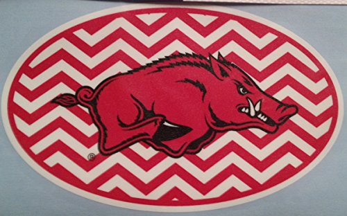 Arkansas Oval Chevron Car Decal - Razorbacks Auto