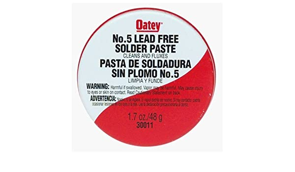 Oatey 30011 No. 5 Pasted Flux 12 Count - Power Soldering Accessories - Amazon.com