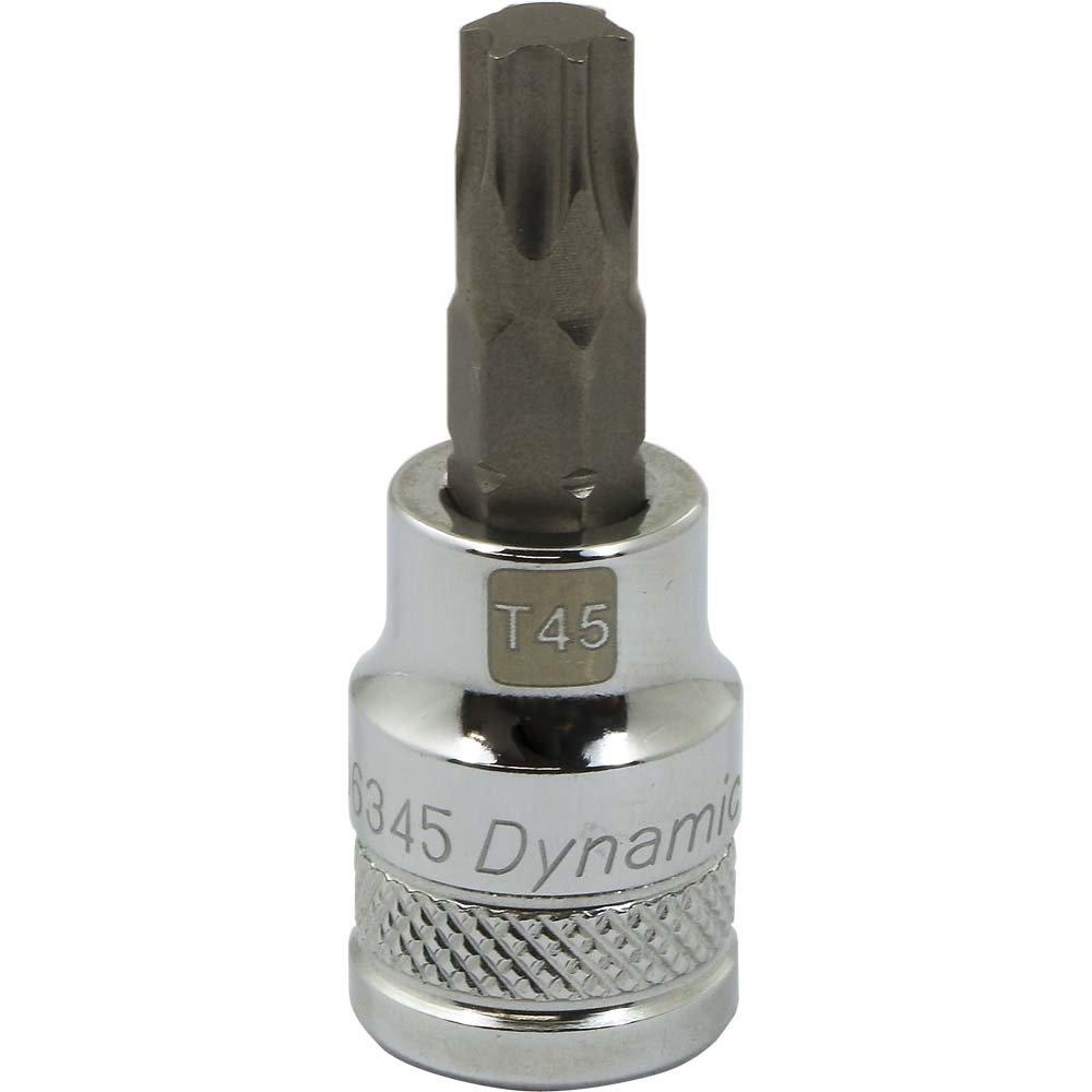 Chrome Finish Socket T30 Bit Regular Length Dynamic Tools 3//8-Inch Drive Torx Head