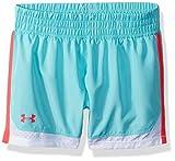 Under Armour Little Girls' New Run Short, Tropical Tide, 6