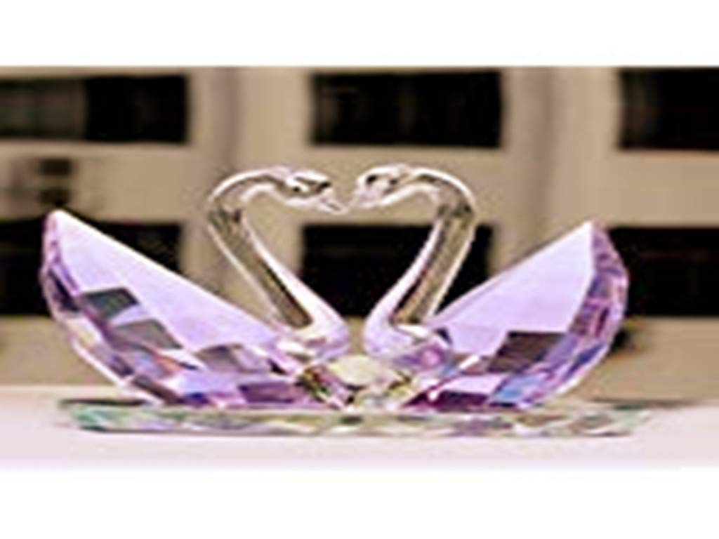 Fashion Wedding Gifts Practical Wedding Gifts Creative Home Decoration Wedding Room Decoration Crystal swan by qianning (Image #1)