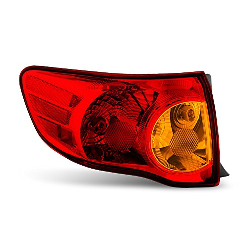 ACANII - For 2009-2010 Toyota Corolla Outer Rear Replacement Tail Light - Driver Side Only