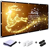 MINC 120 inch Projector Screen 16:9 HD Foldable Anti-Crease Portable Projection Movies Screen for Home Theater Outdoor Indoor Support Rear Projection
