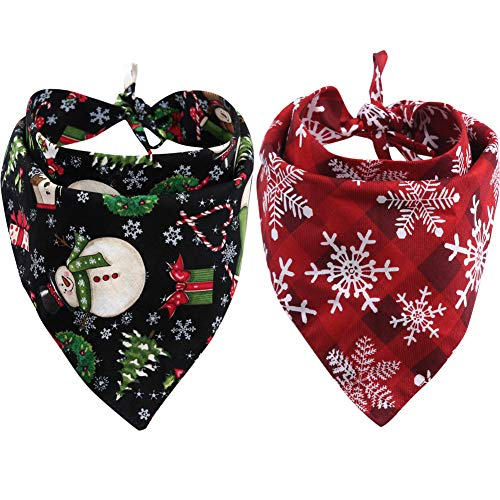 2 Pack Reversible Dog Bandana