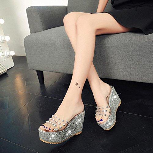 silver Chaussons Saihui Pour Saihui Chaussons Femme 7EXq6xx