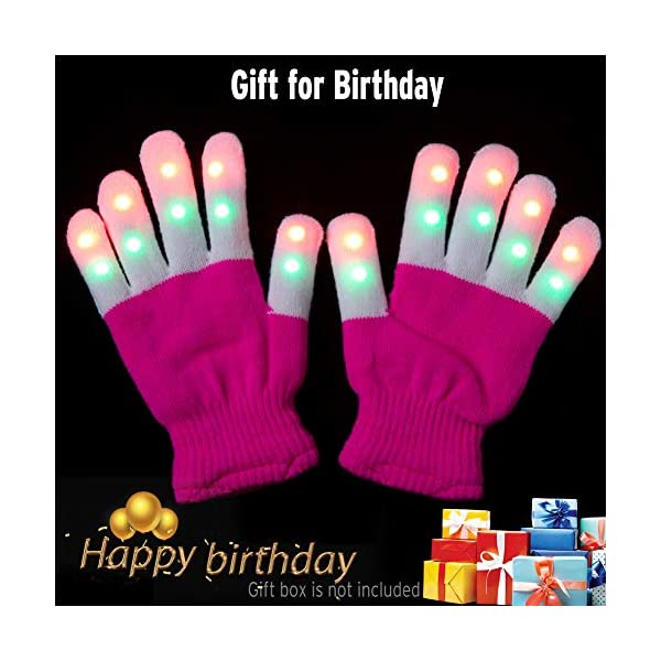 Gloves Kid Children Flashing Finger Light for Bir... Amazer Kids Finger Lights