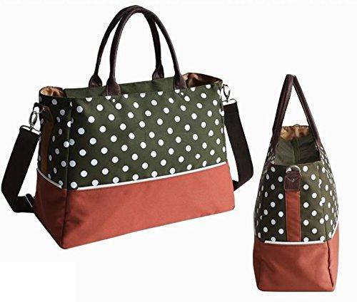 Dot Baby Nappy Changing Bag Set Diaper Bag Multifunctional Mummy Handbag Shoulder Bag MarkUK® (Green) saving4you2