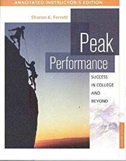 Peak performance success in college and beyond sharon ferrett peak performance success in college and beyond fandeluxe Gallery