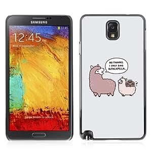 YOYOSHOP [Funny Alpaca Animal Illustration] Samsung Galaxy Note 3 Case