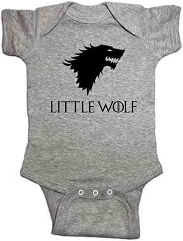 d7f7753af NorthStarTees Game of Thrones Baby One Piece Little Wolf Bodysuit