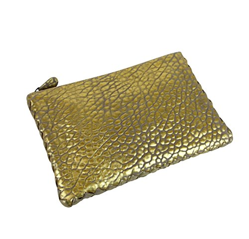 Bag Trim Veneta Leather Pouch Clutch Woven Bottega 256400 Gold 1516 With TX17x8wqA