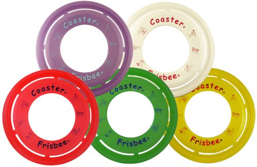 Frisbee Brand Coaster Ring - Set of 5 (Color Assortment) by Frisbee