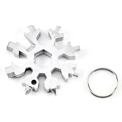MOGOI 18 en 1 Multi-Tool Snowflake Llavero, EDC multiusos ...