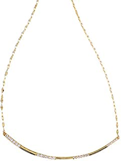 product image for Lana Jewelry- Curved Diamond Bar Necklace