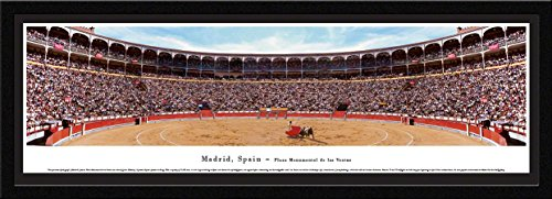 Madrid, Spain - Plaza Monumental - Blakeway Panoramas Icon Posters with Select Frame by Blakeway Worldwide Panoramas