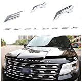 Exotic Store F-ERS 2011-2017 3D Metal (not plastic) Fit for Ford Explorer Sport Chrome Black Front Hood Emblem Letters Badge Decal (Chrome)