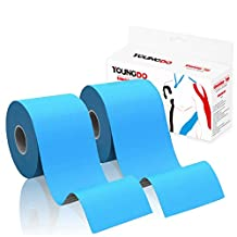 YOUNGDO Kinesiology Tape 2 Packs Pain Relief Adhesive Therapeutic Muscle Support Waterproof 4 Colors