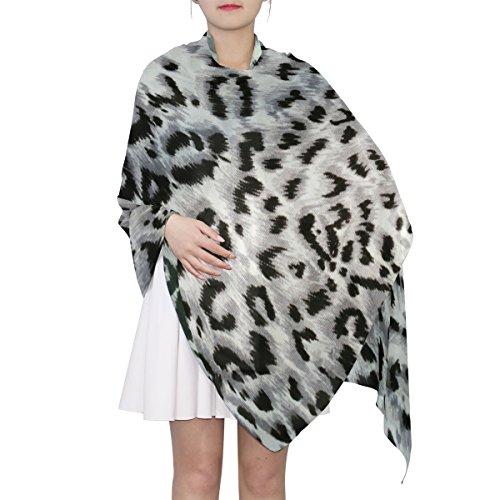 (Women's Scarf Silk Scarf Blanket Lightweight Scarves Fashion Neck Scarf Poncho with Leopard Skin Texture Shawl Wrap 70