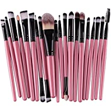 20 Pc Makeup Brushes Set Make Up Tool Foundation Natural Beauty Palettes Eyeshadow Vanity First Class Popular Eyes Face Colorful Rainbow Hair Highlights Glitter Kids Travel Kit, Type-02
