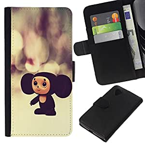 All Phone Most Case / Oferta Especial Cáscara Funda de cuero Monedero Cubierta de proteccion Caso / Wallet Case for LG Nexus 5 D820 D821 // Russian Cartoon Character Toy Big Ears 3D