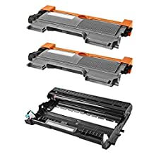 3 Pack The Red P ® Compatible Toner Cartridge & Drum Unit Replacement for TN-450 & DR-420 TN450 TN-450 High Yield for Brother DCP-7060D DCP-7065DN, HL-2220 HL-2230 HL-2240 HL-2240D HL2270DW HL-2280DW, MFC-7360N MFC-7460DN MFC-7860DW Printers