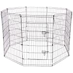 Paws & Pals Dog Exercise Pen Pet Playpens for Dogs - Puppy Playpen Outdoor Back or Front Yard Fence Cage Fencing Doggie Rabbit Cats Playpens Outside Fences with Door - Metal Wire 8-Panel Foldable 17
