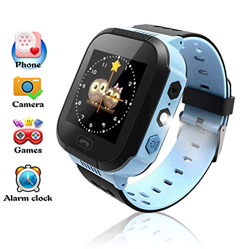 Kids Watches, Smart Watches for Boys, Children Phone Watches Features Real Time Positioning/SOS Emergency Alarm/Voice Messages, Kids Wrist Watches with Camera, Best Gifts for Children(Blue) from Benobby
