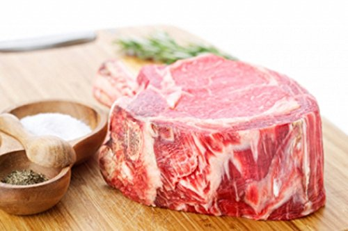 6-pack Rib-Eye, Dancing Forks Meat Company USDA All Natural 20oz Choice Angus 28 day Aged Bone In Rib Chop ()