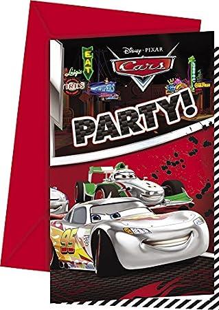 Partido Silver Edition Disney Cars Invitaciones de la fiesta únicos (Paquete de 6, Rojo): Amazon.es: Juguetes y juegos