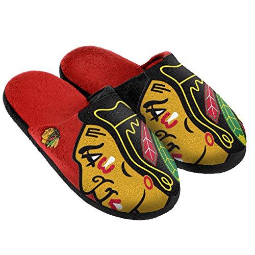 Chicago Blackhawks Split Color Slide Slipper - Blackhawk Gear